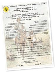 Ver Invitación Reconocimiento en Honor del Profr. Beltrán
