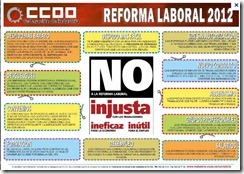 Cartel reforma laboral 2012