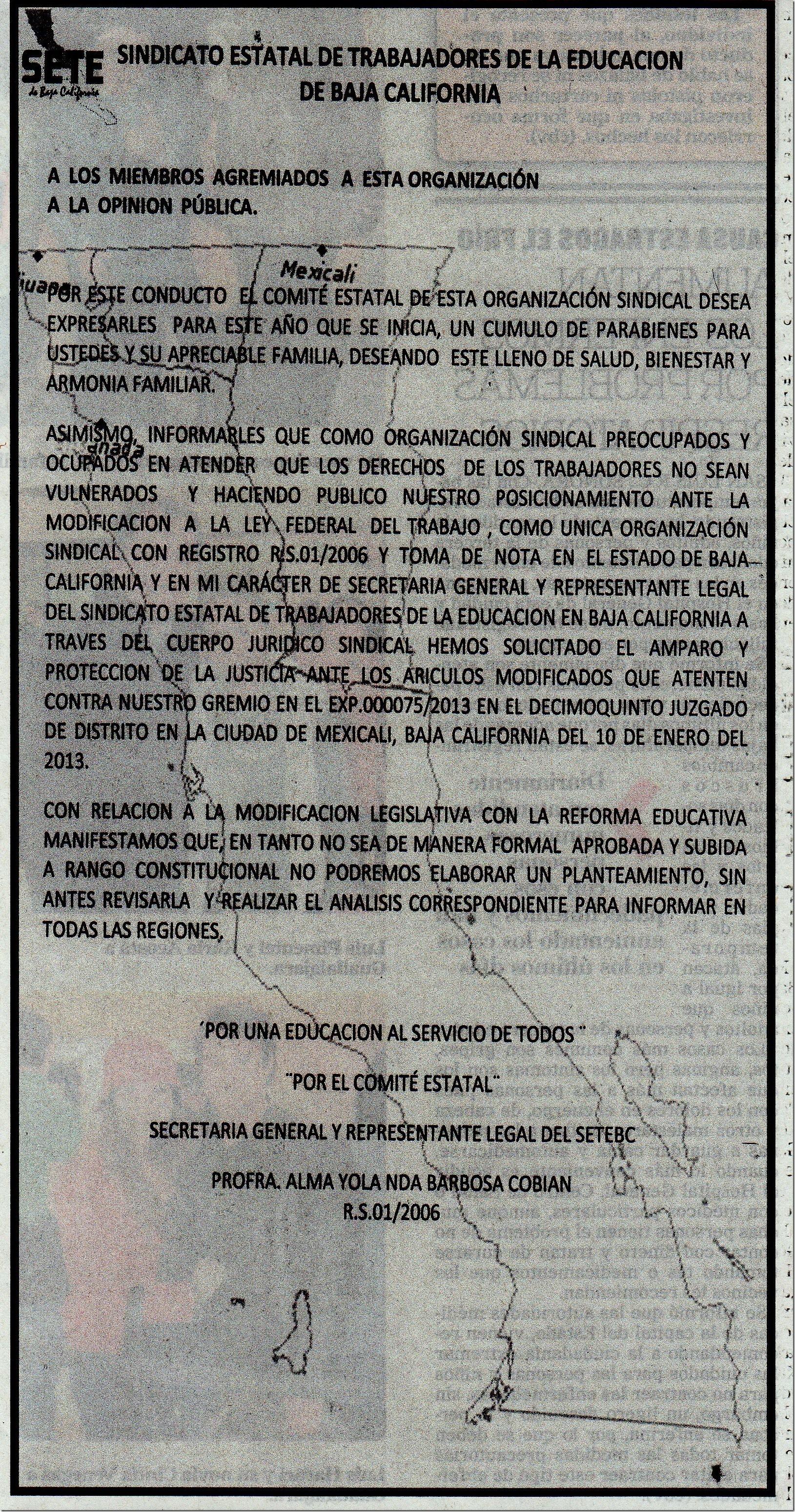 Setebc desplegado Amparo