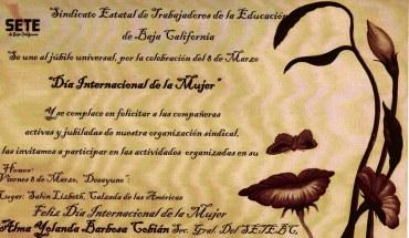 Invitación Día de la Mujer 2013. SETEBC