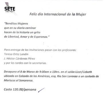 Eventos Día de la Mujer 2013 Setebc