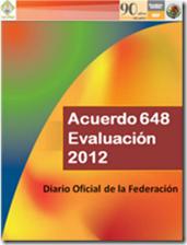 acuerdo 648 evaluación 2012
