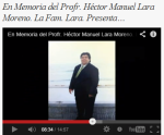 Profr. Héctor Manuel Lara Moreno (1956 al 8 junio del 2012)