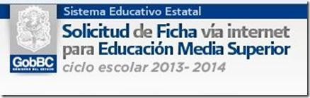 Solicitud ingreso educacion media superior BC