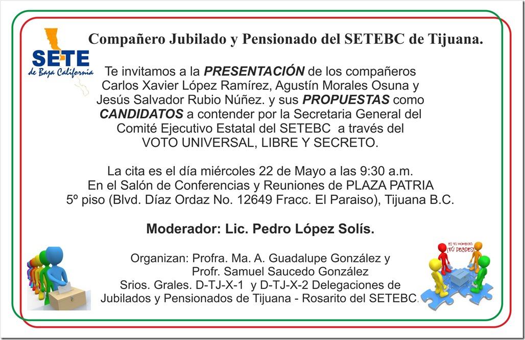 INVITACION PRESENTACION CANDIDATOS