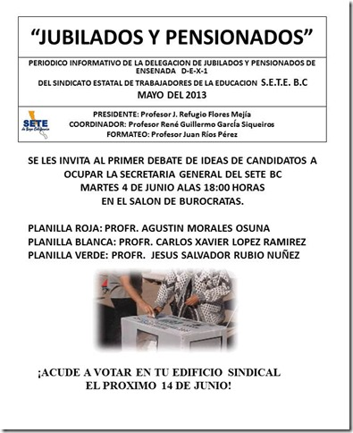 LES INVITA AL PRIMER DEBATE DE IDEAS DE CANDIDATOS