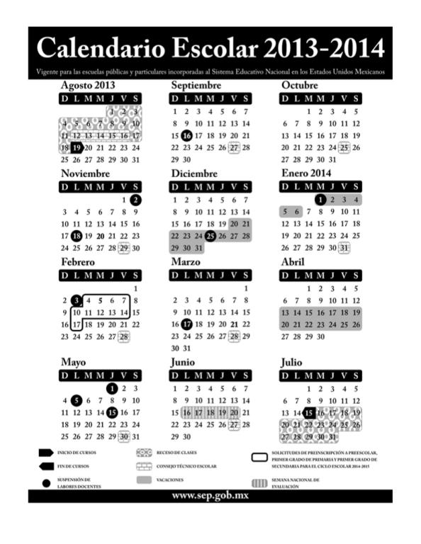 Propone SEP aumentar 7 días al calendario escolar 2013-2014 ...
