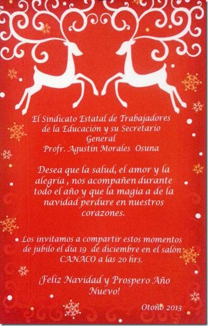 Invitación Posada Setebc