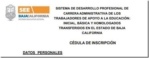 Cédula de Inscripción carrera administrativa