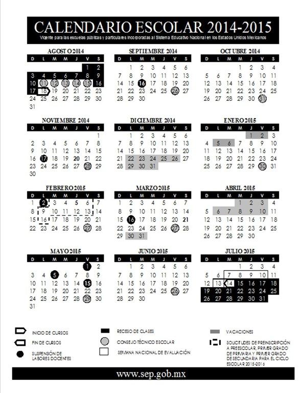 primaria y secundaria se realizará del 3 al 16 de febrero de 2015 ...