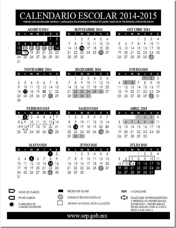 Calendario escolar 2014-2015 (Borrador) | Setebc's WordPress (Inicio)