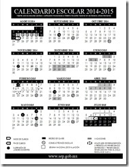 Calendario Escolar 2014-2015 SEP (Borrador)