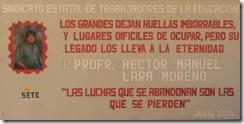 Homeja por el segudo aniversario del fallecimiento de Héctor Lara M